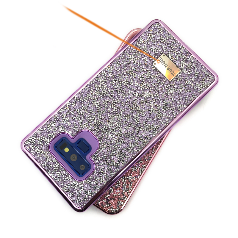 Blinking Rhinestone Case For Samsung Galaxy S8 S9 S10 Note10 Plus Note9 Myl-1V2 2 In 1 Diamond Glitter Women Back Cover Case