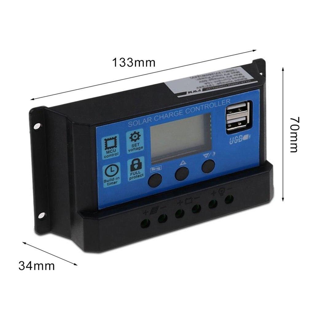 30a pwm painel solar regulador 12v 24v controlador 04