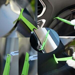 Image 2 - EHDIS 1/3 stücke Carbon Faser Aufkleber Magnet Stick Rakel Vinyl Film Verpackung Schaber Kit Auto Zubehör Fenster Folie Tönung Werkzeug