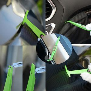 Image 2 - EHDIS 1/3pcs adesivo in fibra di carbonio magnete Stick tergipavimento pellicola in vinile avvolgimento raschietto Kit accessori auto pellicola per vetri tinta strumento