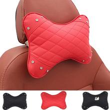 Easy Install Clean Arrival Car Neck Pillows Both Side Pu Leather Single Headrest Universal Filled Fiber Universal Car Pillow X20 cheap spokle stoa CN (Herkunft) Synthetische Faser Künstliche leder