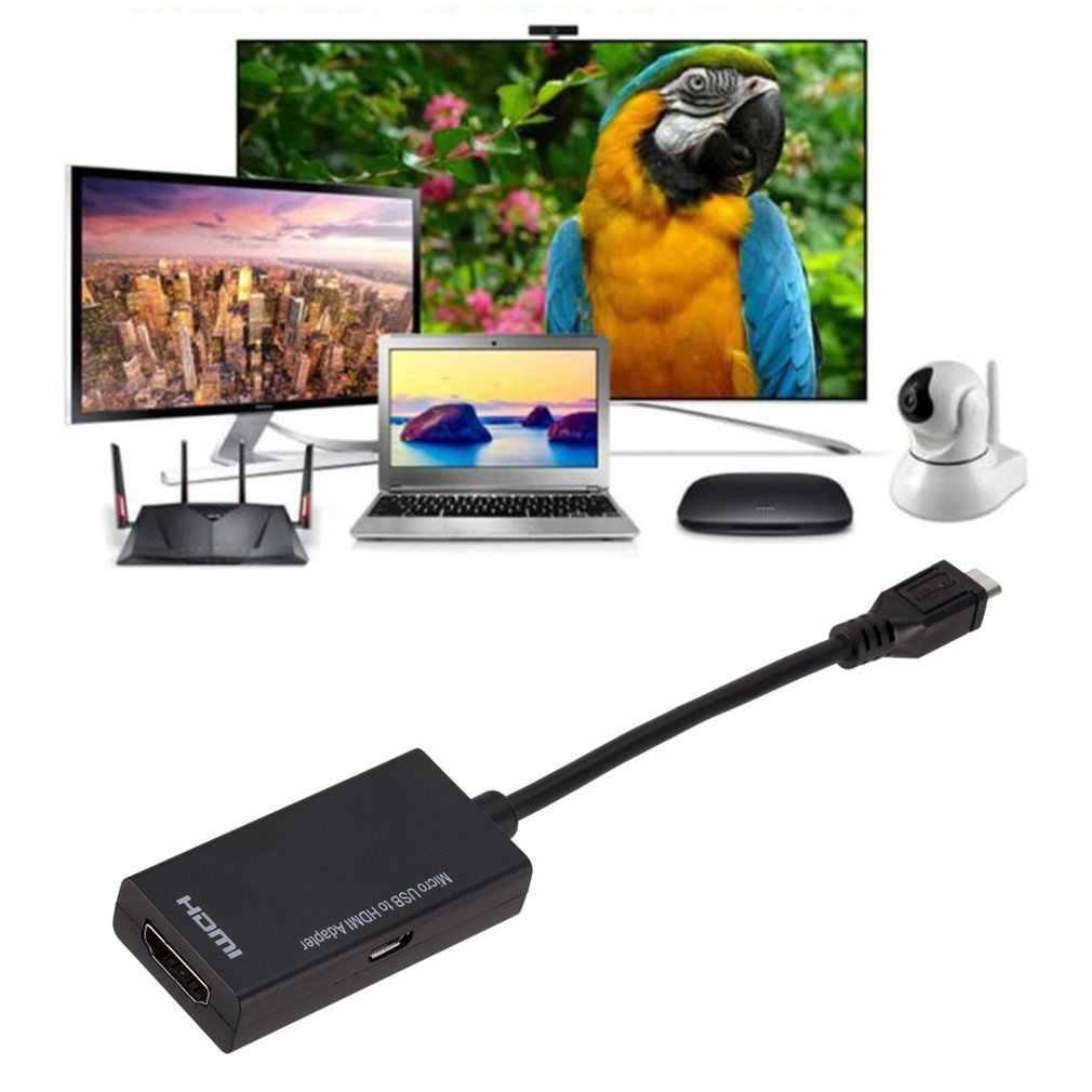 المصغّر usb إلى HDMI كابل محول الذكور إلى الإناث 1080P HD ل جهاز MHL HDTV محولات لسامسونج لهواوي مع 3M HDMI كابل