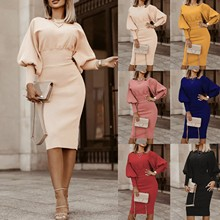Long-Sleeved-Dress Cotton 40 Plus-Size Women's for Winter Warm Waist-Slim-Fit Pullover
