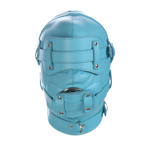 Image 5 - New Fetish SM Hood Headgear With Mouth Gag PU Leather BDSM Bondage Sex Mask Hood Toys Adult Games Sex Product For Couples