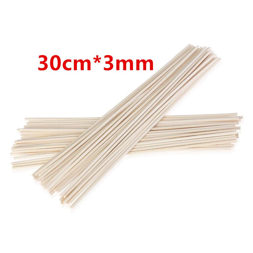 100pcs 30cmx3mm Natural Rattan Sticks Replacement Reed Diffuser Sticks