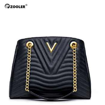 Hot&New Genuine leather bags women ZOOLER 2019 luxury handbag women bags designer classic chains high quality handbags #NT100 - DISCOUNT ITEM  52% OFF All Category