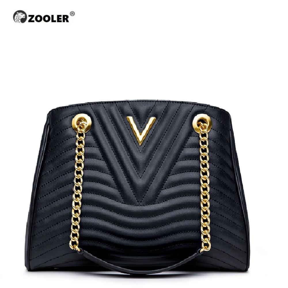 Bagaj ve Çantalar'ten Omuz Çantaları'de Sıcak ve yeni hakiki deri çanta kadın ZOOLER 2019 lüks çanta kadın çanta tasarımcısı klasik zincirler yüksek kalite çanta # NT100'da  Grup 1