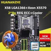 HUANANZHI X58 carte mère CPU RAM Combo LGA1366 Socket CPU Xeon X5570 avec refroidisseur grande marque RAM 16G(2*8G) REG ECC acheter ordinateur