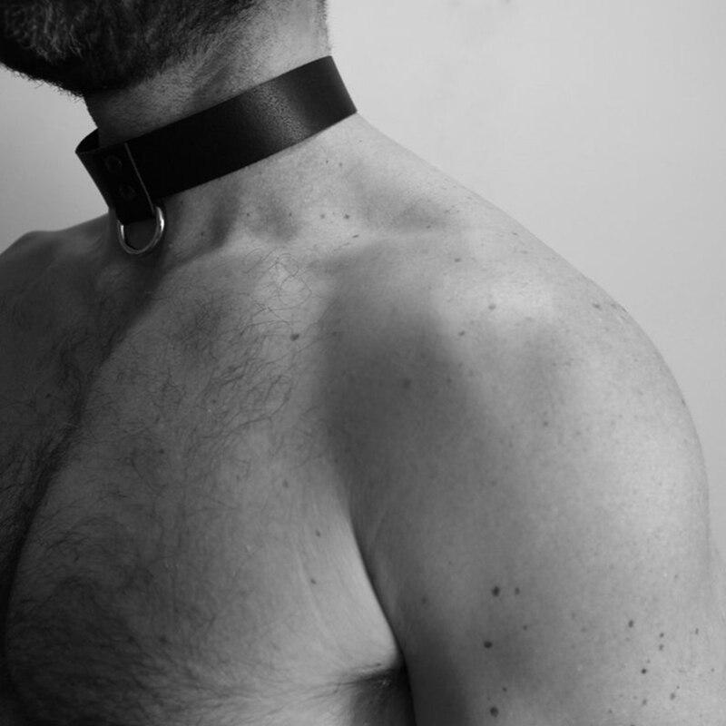 Мужская Портупея из искусственной кожи, бондаж в виде бульдога, БДСМ, чокер гей-фетиш, эротическое сексуальное белье, регулируемые бандажны...