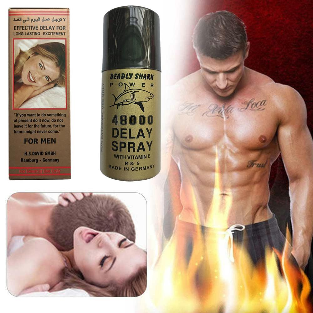 1PC 45ml Delayed Spray Sharks Deadly 48000 Overspeed Spray Reduces Male Nursing Spray Delay Ejaculation Sensitivity Wholesale F3