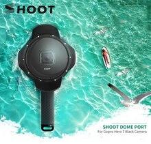 Bắn 6 Inch Lặn Dome Port Cho GoPro Hero 7 6 5 Màu Đen Máy Camera Với Túi Chống Nước Lưng Dành Cho gopro 7 6 Đi Pro Phụ Kiện