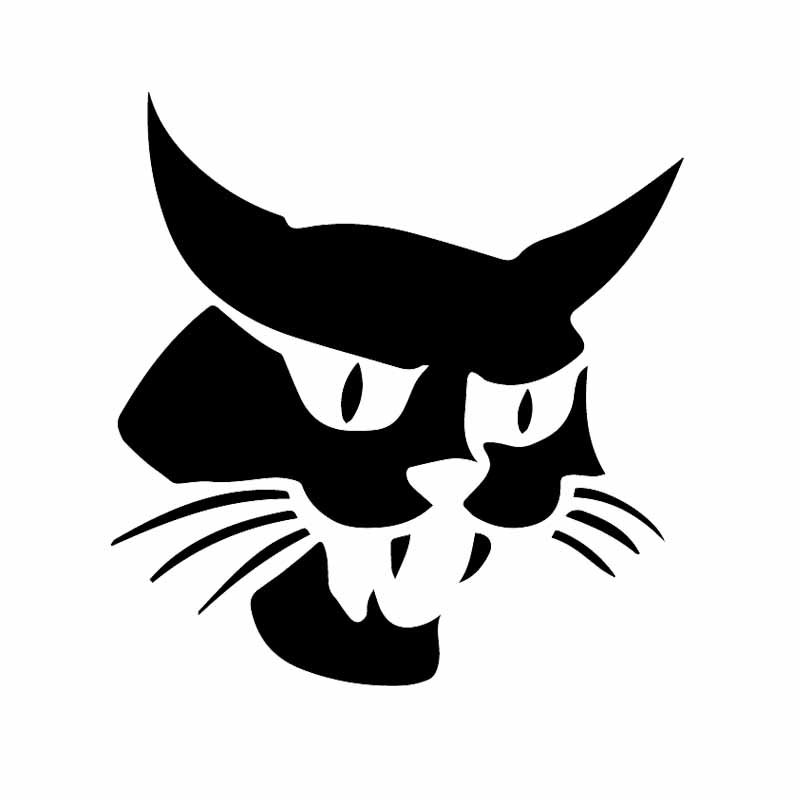 Ventana Bobcat impermeable, pegatina de PVC con patrón de Mascota para coche, motocicleta, Notebook, decoración, 15,5 cm x 15cm