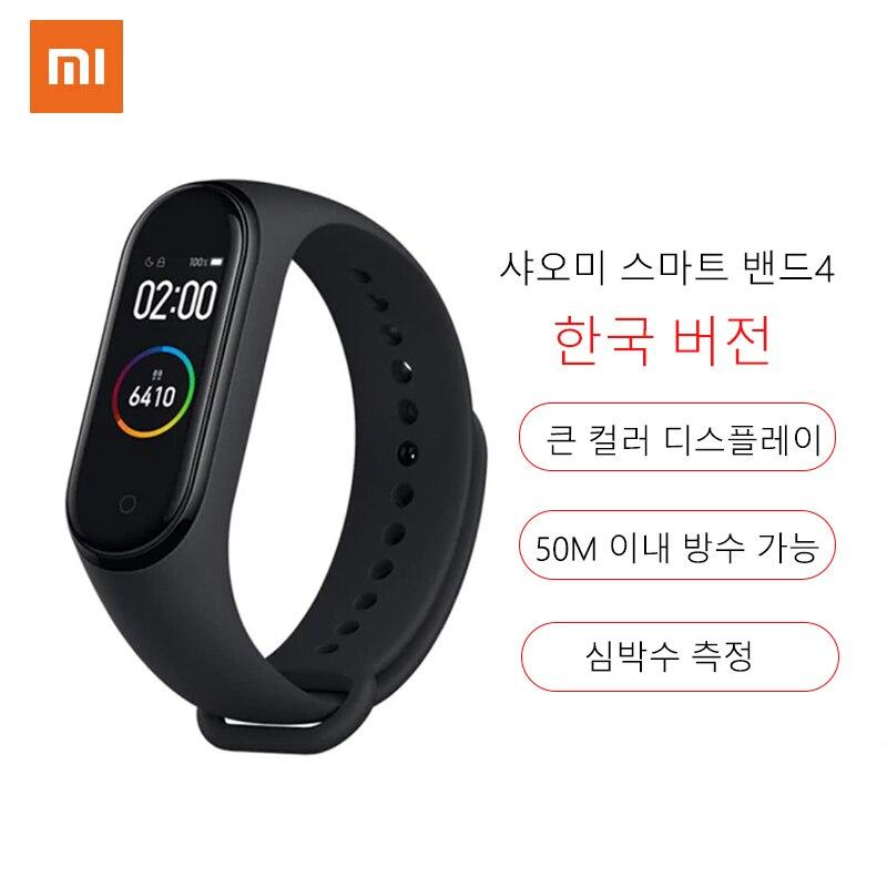 Xiaomi Mi Band 4 Smart Horloge Hartslag Fitness Activiteit Tracker Armband Kleurrijke Display Bluetooth Sport Waterproof