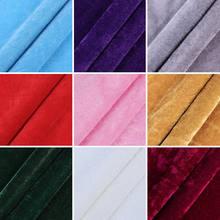 Tecido de veludo cinza fino pelo medidor para roupas, cortina de tecido, vermelho, preto, branco, azul, vinho vermelho, rosa, roxo e amarelo