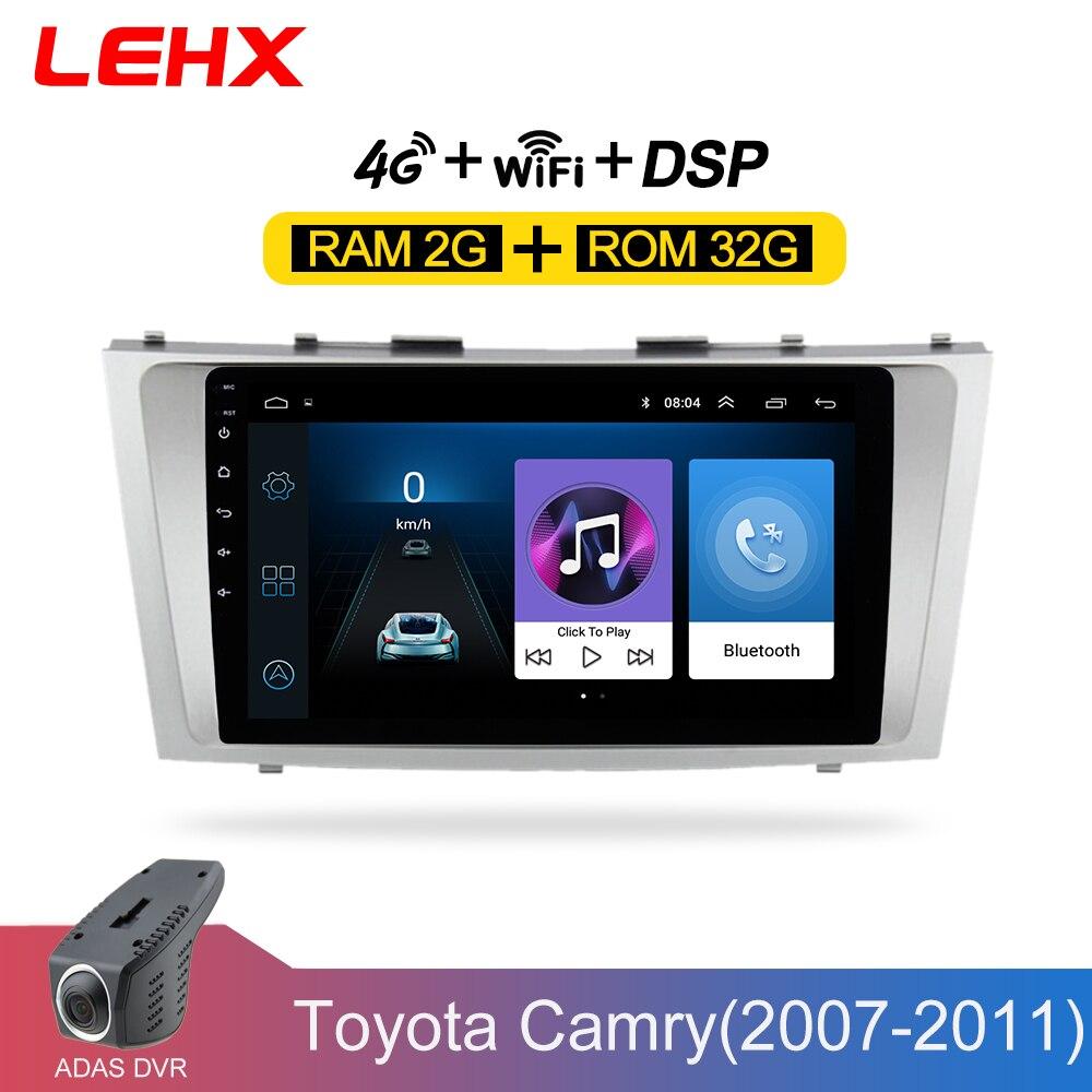 LEHX Android 8.1 lecteur multimédia de voiture 2 din autoradio pour toyota camry 2007 2008 2009-2011with navigation unité de tête stéréo de voiture