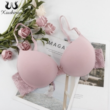 Xiushiren Sexy Deep U B C Cup Bras For Women Unlined Push Up Lingerie Seamless Bra Plunge Intimates Female Underwear