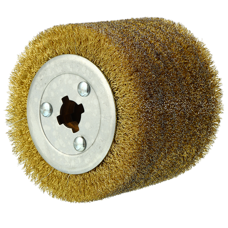 Stainless Steel Wire Brush Wheel Wood Open Paint Polishing Deburring Wheel 1 Piece For Electric Striping Machine|Brush| |  - title=
