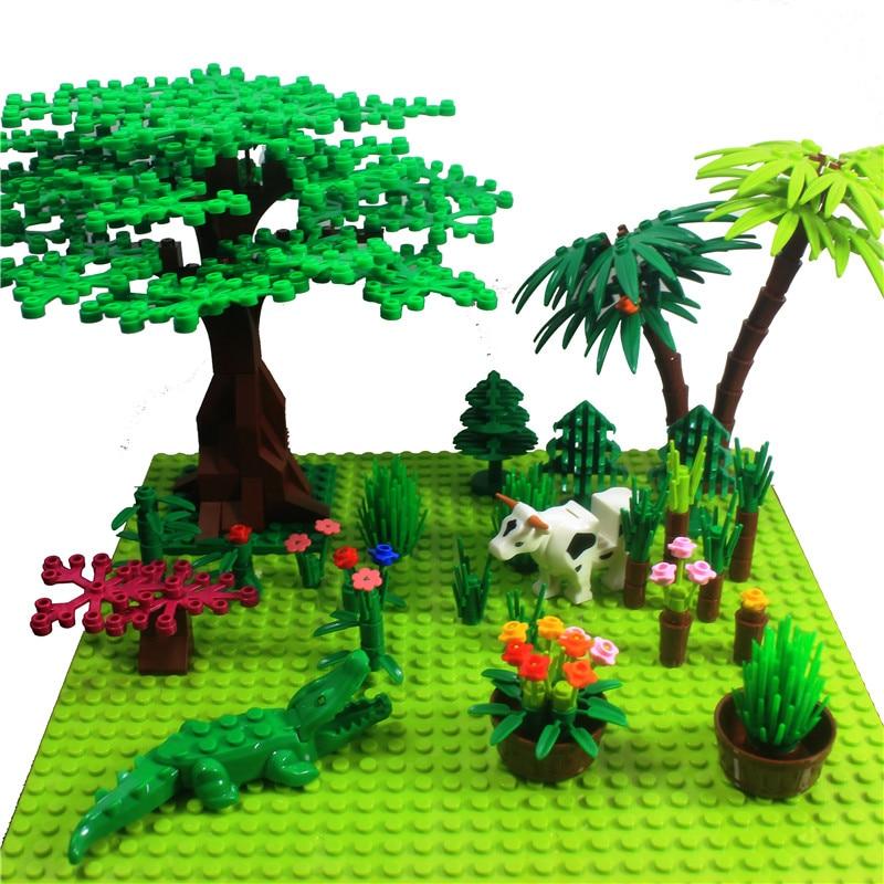 Двусторонняя Базовая пластина в горошек 32*32 для мелких кирпичей, «сделай сам», Буш дерева, «сделай сам», строительные блоки, базовая пластин...