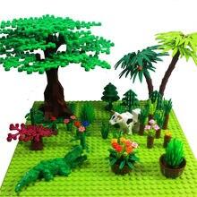Duplo-face 32*32 pontos placas de base para pequenos tijolos diy árvore bush diy blocos de construção placa base compatível clássico blocos placa