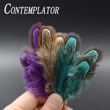 6optional color ringneck pheasant shoulder Patches fly tying feathers 50pcs natural pheasant feather nymph fly fishing materials