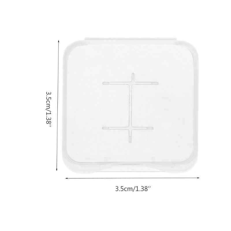 Feamos 10 stücke TF MiC SDHC Micro SD Speicher Karte hartplastik Box Fall Weiß Neue 77UB