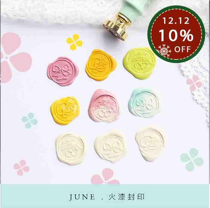 Moodtape Personality Wooden Stamp Wood Wax Seal Stamp For DIY Gift / Invitation  Album Decorative Stamp Bowknot Metal Stamp Seal