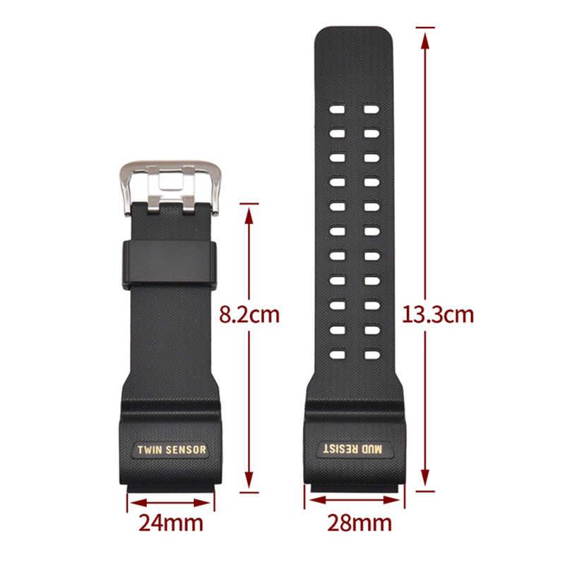 ساعة إكسسوارات دبوس مشبك 16 مللي متر من أجل كاسيو صغيرة الطين الملك حزام GG-1000GWG-100GSG-100 رجال الرياضة الراتنج ساعة بحزام مطّاطي