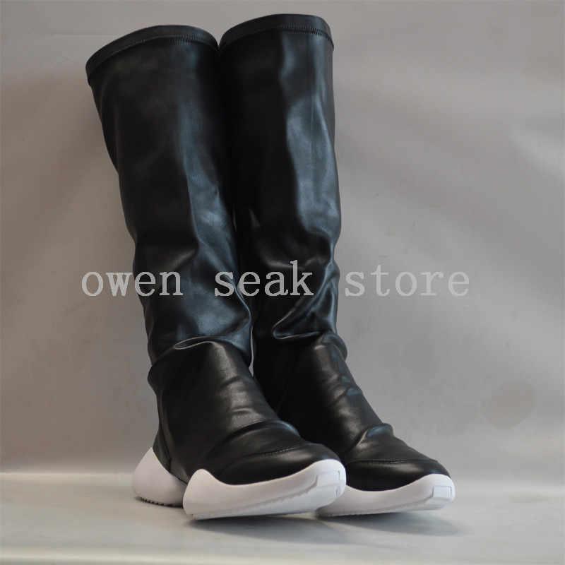 Owen Seak Homens Botas até o Joelho Botas Ferradura Alta Formadores De Luxo Tênis de Marca da Neve do Inverno Botas Masculinas Casuais Sapatos Flats