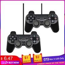 有線usbコントローラ用のwinxp/Win7/Win8/Win10 pcコンピュータのラップトップ黒ゲームジョイスティック