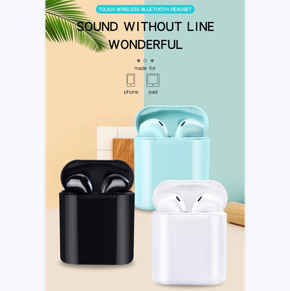 LEORY Wireless TWS HiFi  bluetooth 5.0 Earphone Touch Control Stereo Earbus in Ear Handsfree with Charging Box for xiaomi