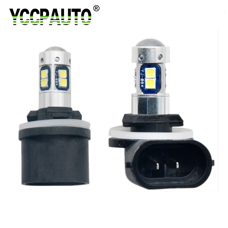 2x H8 H11 H9 3000K Yellow 30SMD High Power CREE LED Fog Lights Driving Bulbs DRL