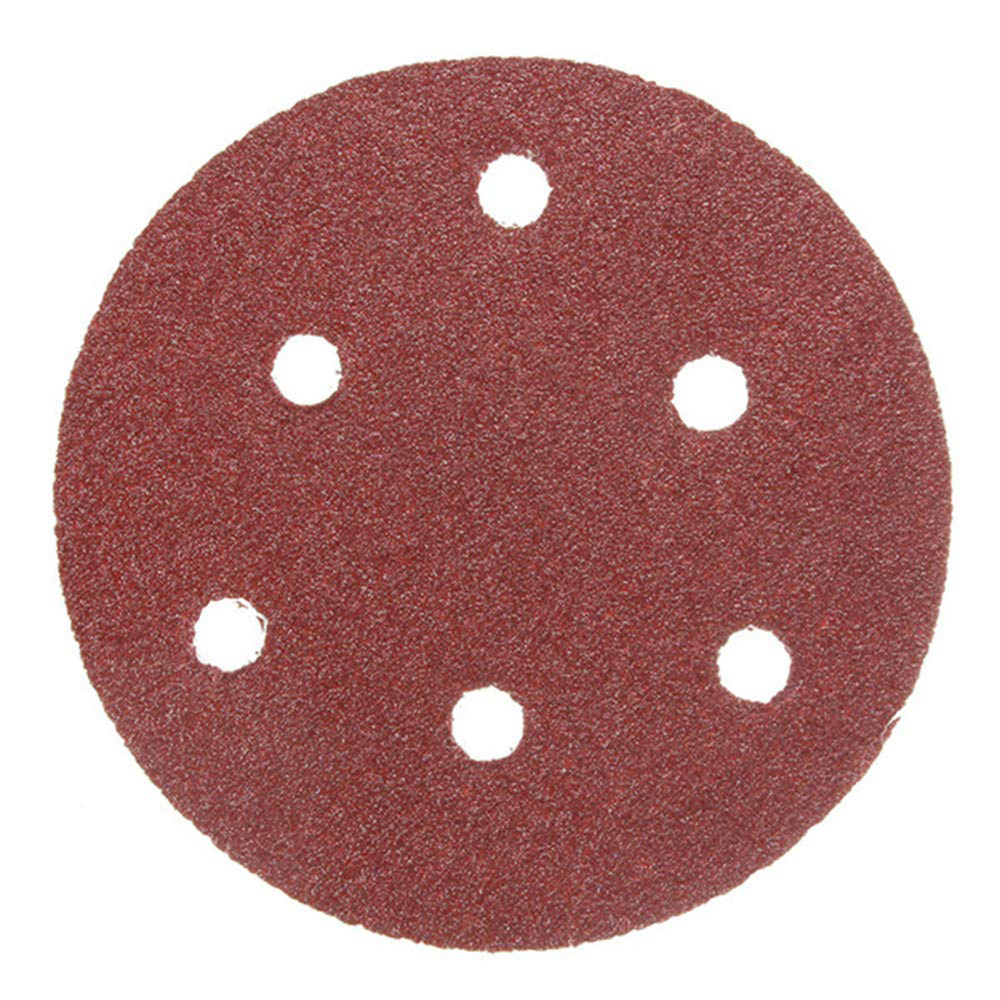 50pcs 125mm Sandpaper 8 Hole Hook Loop Sanding Paper Sand Pads Set Sander Disc Abrasives For Polish Machine