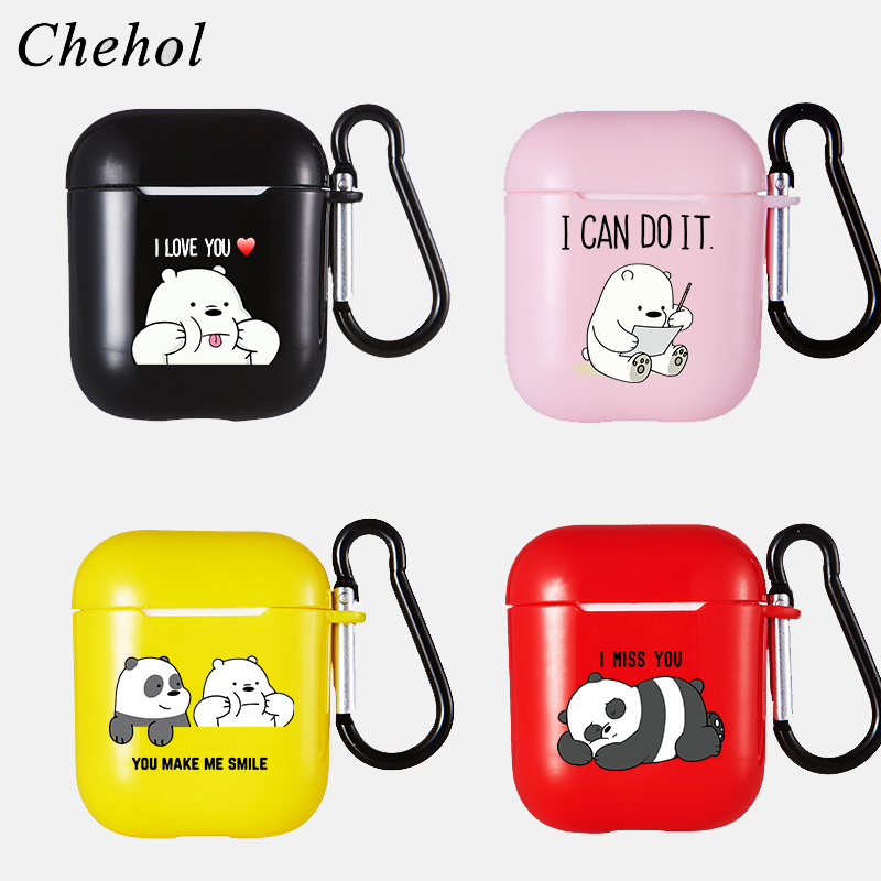 Panda Bear Earphones Case for Apple Airpods Pro 1 2 3 Bluetooth Wireless Headphone Soft Silicone Protection Cases Headset Covers