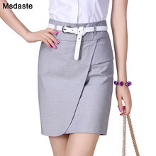 Юбка карандаш женская с поясом деловая облегающая элегантная
