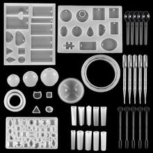 Uv-Tool-Set Pendant Crafts-Accessories Casting-Molds Jewelry-Making-Supplies Silicone Epoxy