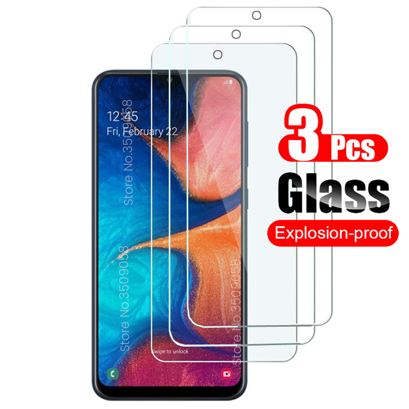 3PCS Protective Glass For Samsung Galaxy A20 A20e Screen Protector Tempered Glass For Samsung A50 A30 A70 A40 A60 A80 A90 Film