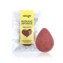 1 adet doğal Konjac süngeri kozmetik puf yüz yıkama çarpıntı temizleme sünger su damlası şekilli puf yüz temizleyici araçları