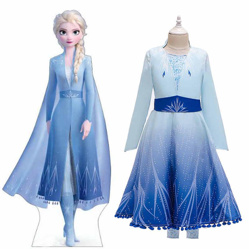 Navidad Frozen 2 Vestido De Elsa Para Niña Adolescente Disfraz De Cumpleaños De Princesa Carnaval Chico Elza Up Vestido De Princesa Disfraz De Niño