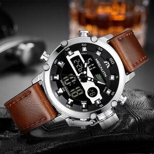 Image 3 - Megalith Mode Mannen Led Quartz Horloge Mannen Militaire Waterdicht Horloge Sport Multifunctionele Horloge Mannen Klok Horloges Mannen
