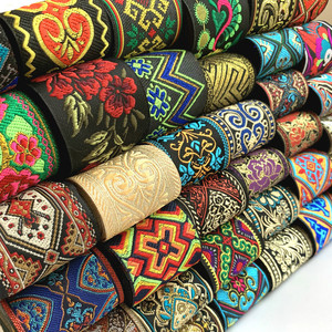 ZERZEEMOOY HOT 3 Yards 50mm Vintage Ethnic Embroidery Lace Ribbon Boho Lace Trim DIY Clothes Bag Accessories Embroidered Fabric
