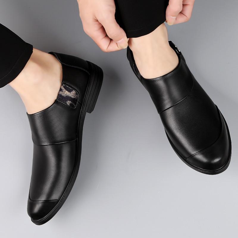 Genuine Leather Loafers Men Oxfords Trendy Casual Shoes Male Dress Wedding Prom shoes zapatos de vestir para hombre