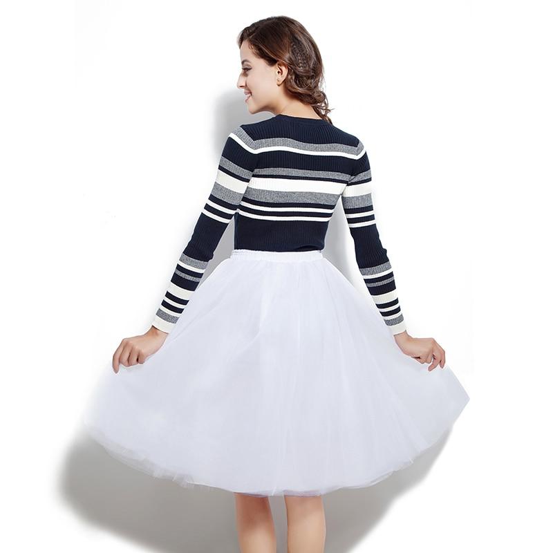 Vintage Wedding Party Petticoat Midi Tulle Puffy Skirt Girls Fashion Tutu Skirts Women Solid Ball Gown Underskirt Slips 12021