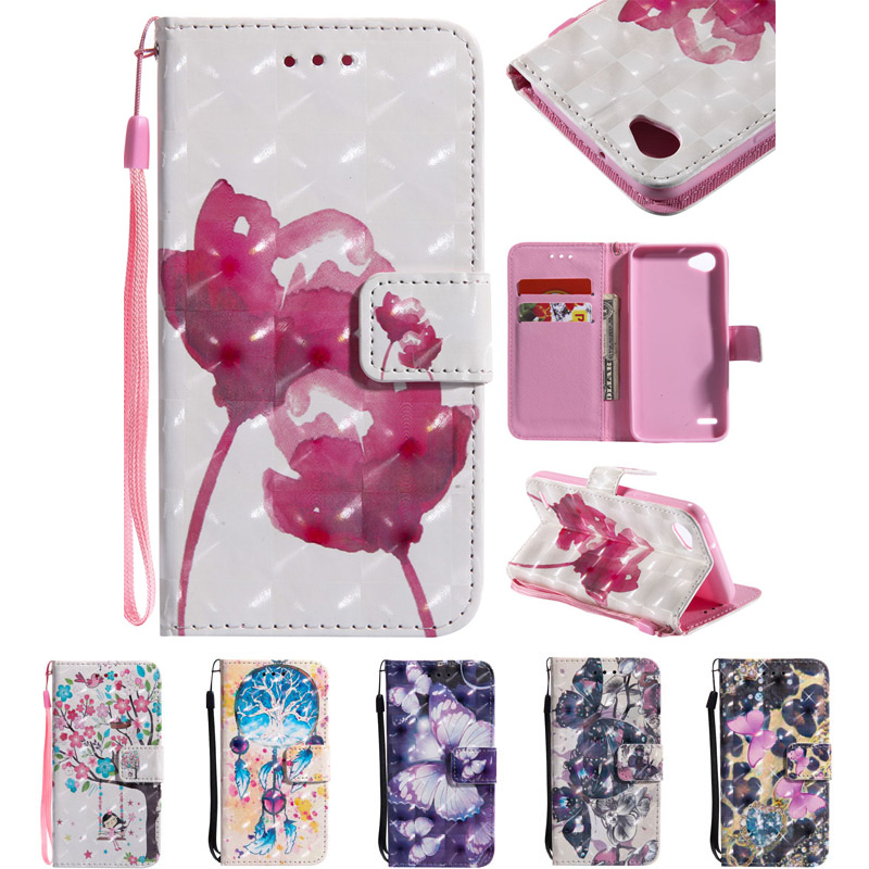 Case For LG Q6 M700AN M703 LGQ6 M700Y X600L Holder Flip PU Phone Back On Leather Wallet Cover Case For LG Q 6 LGM700AN Cases Bag