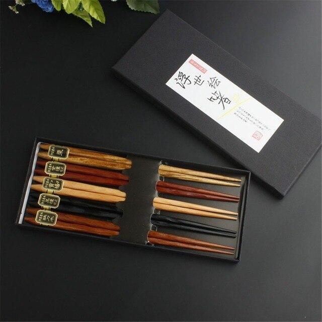 Фото новинка 5/20 пар японские корейские многоразовые палочки для цена