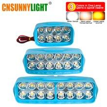 CNSUNNYLIGHT светодиодный Противотуманные фары для мотоцикла/автомобиля DRL 3 цвета в одной лампе переключатель 3000 K/4300 K/6000 K Автомобильные фары Дневные ходовые огни