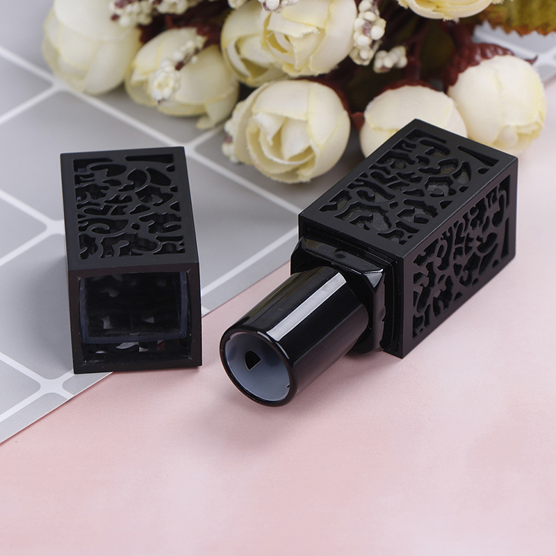 1pc Lipstick Tube Empty Cosmetic Containers Black Hollow Lipstick Tubes For 12.1mm Lipstick Mold