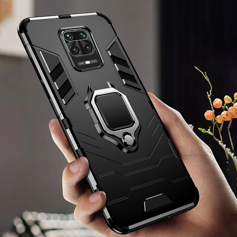 For Xiaomi Redmi Note 9S Case Magnetic Holder Fashion Case For Redmi Note 9 S 9S Case Cover Global Version Heavy Duty Bumper(China)