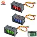 Цифровой мини-Вольтметр 0,36 дюйма, постоянный ток 0-100 В, 3 провода, 4-разрядный прецизионный измеритель напряжения, панельный тестер для телеф...