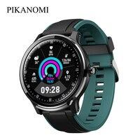 Gps esporte relógio inteligente ip68 à prova dip68 água bluetooth relógio de pulso freqüência cardíaca monitor de pressão arterial fitness rastreador relógio toque completo
