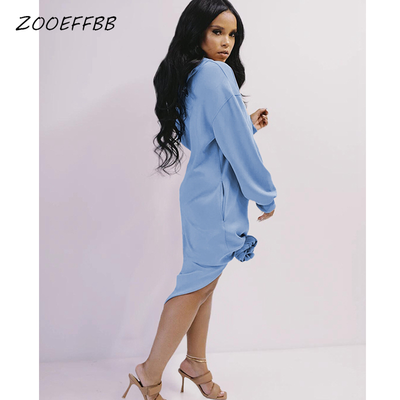 Zooeffbb Aesthetic Hoodies Thicken Black Dress Long Sleeve Midi Dress Winter One Piece Loose Birthday Outfits For Women Clothes Dresses Aliexpress